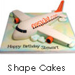 Shape Cakes to India