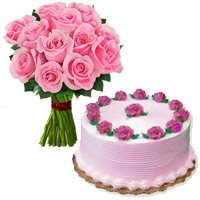 Pink Roses and Cakes to India