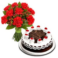 Father's Day Flower Cake Delivery in India
