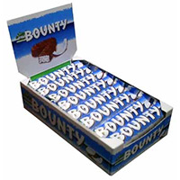 Chocolate Delivery in India with 24 Pcs Bounty Chocolates on Rakhi