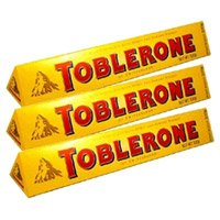 Place Online Order for Toblerone 300 gms Chocolates with Rakhi Gifts to India