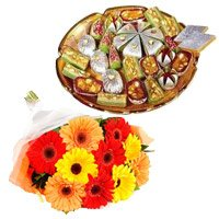 Flowers with Rakhi to India