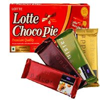 Send Chocolate and Rakhi to India including 4 Cadbury Temptation Bars with Chocopie