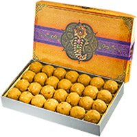 Mother's Day Sweets to India - 1 Kg Besan Laddu