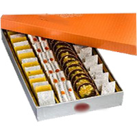 Rakhi Gifts Delivery in India. 500 gm Assorted Kaju Sweets to India