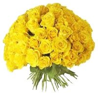 Mother's Day Flowers to India : 100 Yellow Roses Bouquet