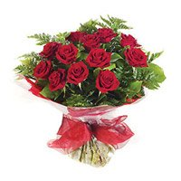 Valentine Flower Delivery in India. Send Red Roses Bouquet of 15 Flowers to India