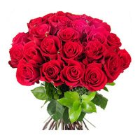 Valentine's Day Flowers to India. Send Red Rose Bouquet of 24 Flowers to India