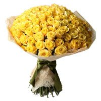 Mother's Day Flowers to India : 50 Yellow Roses