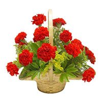 Send Red Roses Bouquet 10 Flowers to India. Romantic Bouquet delivery in India
