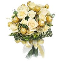 Chocolates White Flowers to India