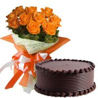 Send Mother's Day Flowers Cakes to India
