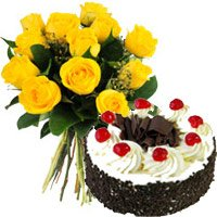 Send Mother's Day Cakes Flowers to India