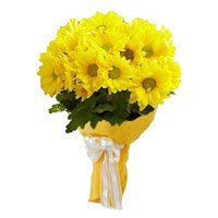 Best Mother's Day Flowers to India : Yellow Gerbera Bouquet