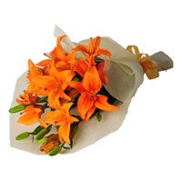 Flowers to India : Orange Lily