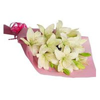 Mother's Day Flowers to India :  Pink White Lily