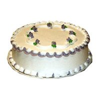 Cake Delivery India - 1 Kg Vanilla Cake