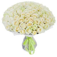 Flowers to India : 100 White Roses