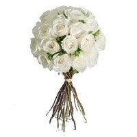 Send Flowers to India : 24 White Roses