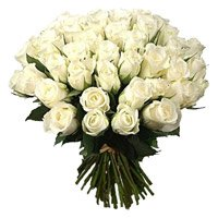 Deliver Flowers to India : 50 White Roses