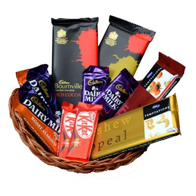 Send Diwali Gifts to Baroda with Basket of Assorted Chocolates